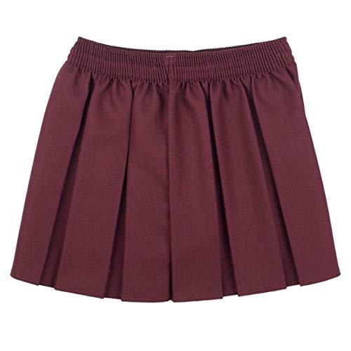 CreativeMinds UK uniforme scolastica ragazze estate formale vestito fondo completo elastico box pieghe gonna solo Uniform vino 4-5 Anni