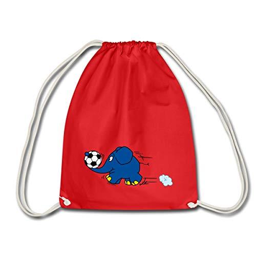 Die Sendung Mit Der Maus Elefant Spielt Fußball Turnbeutel, Rot