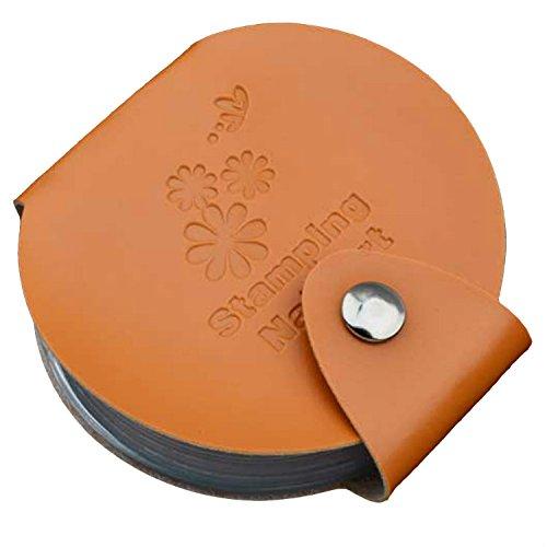 Pochette de rangement Plaques Stamping - Ronde - 24 emplacements - ORANGE