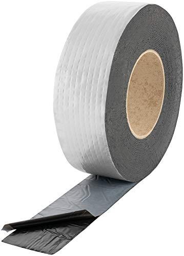 Poppstar Alu Butyl Klebeband (10 m x 50 mm x 1,5 mm) Aluminium Dichtband selbstklebend, schwarz