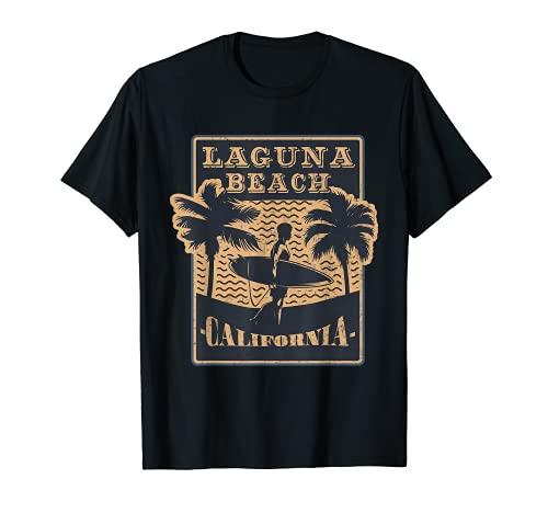 Surf Retro de Laguna Beach Van California Surfer Camiseta