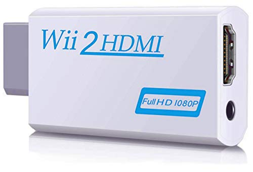 00 Wii to HDMI Converter,Wii to HDMI Adapter,Output Video Audio Wii to HDMI 1080P&3,5mm Audio Jack&HDMI Output Compatible with Wii, Wii U, HDTV, Supports All Wii Display Modes 720P,NTSC