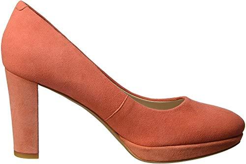 Clarks Damen Kendra Sienna Pumps, Orange (Coral Suede), 39.5 EU