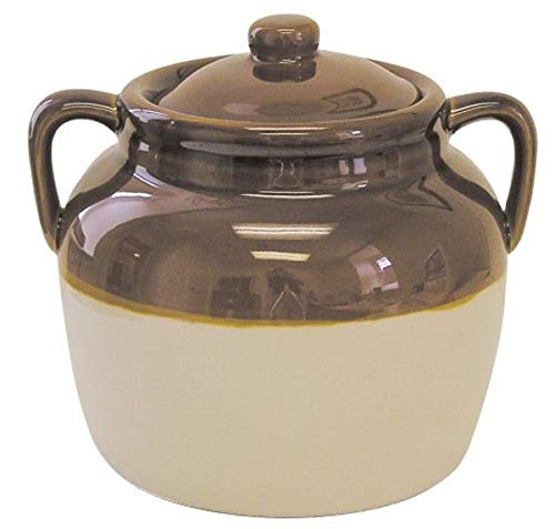 R&M International 7621 Traditional Style 4.5-Quart Large Ceramic Bean Pot with Lid,...