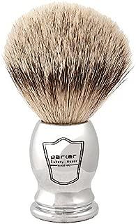 Parker Safety Razor 100% Silvertip Badger Bristle Shaving Brush (Chrome Handle) and Free Shaving Brush Stand