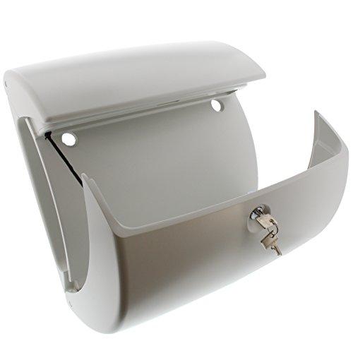 BURG-WÄCHTER Kunststoff-Briefkasten mit integriertem Zeitungsfach, A4 Einwurf-Format, EU Norm EN 13724, Kiel 886 W, Weiß - 3