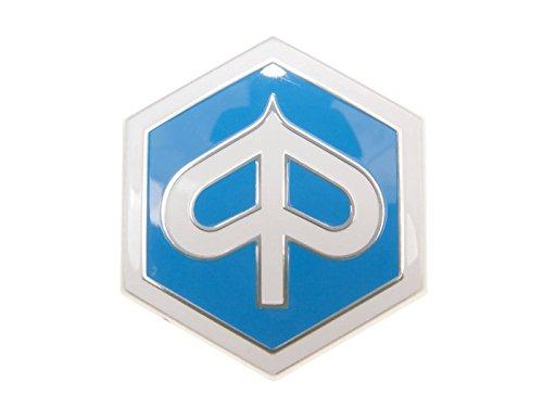 Emblem Piaggio zum Stecken 6-eckig 42x48mm für Piaggio Beverly, Carnaby, X7, X8, X10