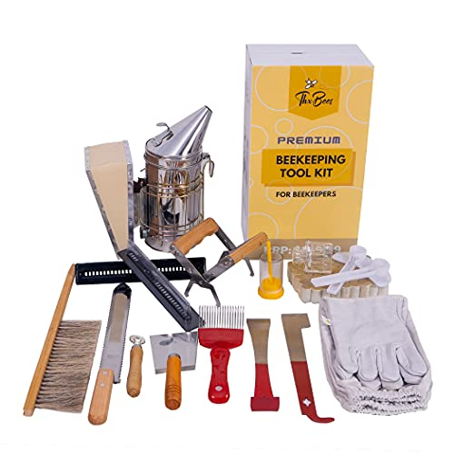 Beekeeping Supplies Bee Supplies Bee Smoker Starter Kit, 17 Pcs Beekeeping Tools Bee Keeping...