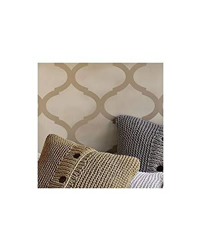 """Stencil da parete con motivo damascato """"019 Surman"""" Formato: M (medio). Stencil: 50 x 70 cm, Design: 48 x 68 cm, motivo damascato: 21 x 18 cm."""