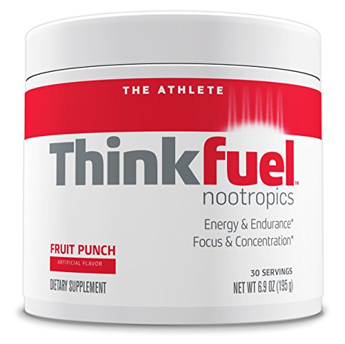 Flat Tummy Nootropic Pre Workout Powder for Athletes - Dopamine Stack to Boost Mental Performance, Energy Levels and Endurance. w/DMAE, Creatine, Beta-Alanine, and Caffeine. Fruit Punch, 30 Servings