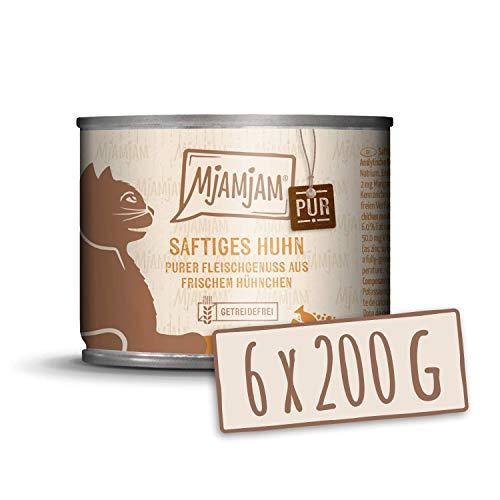 MjAMjAM purer Fleischgenuss - saftiges Hühnchen pur, 6er Pack (6 x 200g)