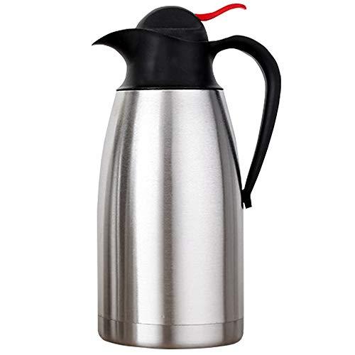 Thermo-Kaffeekaraffe aus Edelstahl, doppelwandige Vakuumkaraffe,...