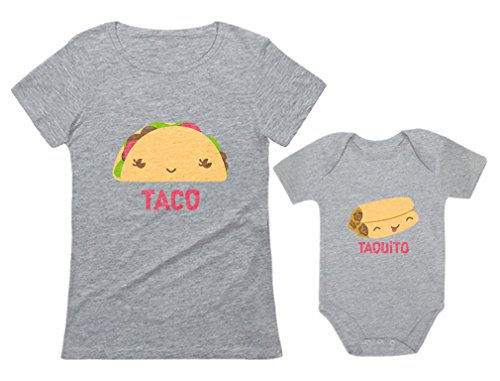 Taco & Taquito Baby Bodysuit & Women's T-Shirt Set Mommy &...