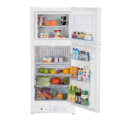 SMETA Electric 110V/Propane Absorption Refrigerator with Freezer, 6.1 Cu.ft, White