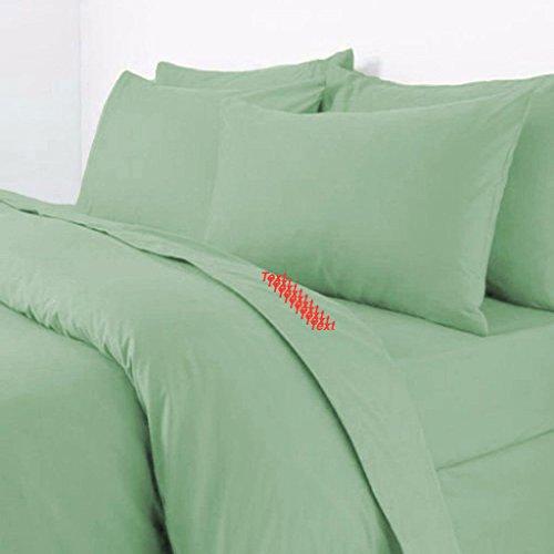 RB Polycotton Parcale Plain Dyed Duvet Cover & 2 Pillow Cases Bed Set (Single, Mint Green)