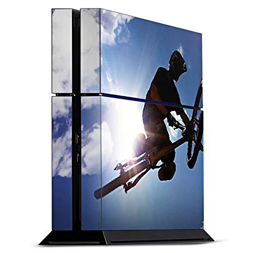 DeinDesign Skin kompatibel mit Sony Playstation 4 PS4 Folie Sticker Fahrrad Mountainbike Himmel