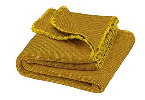Disana Melange-Babydecke Wolle, Größe: 80x100 cm, curry/gold Melange, 80x100 cm