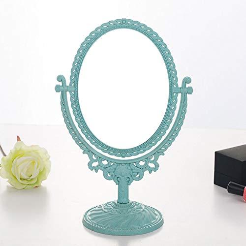 Lrxq Make-upspiegel in Europeo-stijl voor de salontafel, spiegel aan twee zijden, 3 volt
