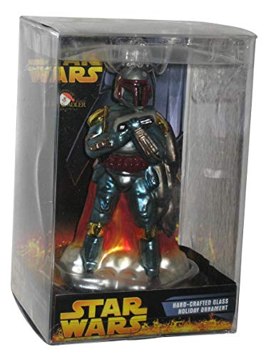 Kurt Adler Star Wars Boba Fett Hand-Crafted Glass Holiday Ornament