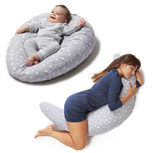 Niivetto Stillkissen Schwangerschaftskissen zum schlafen groß XXL erwachsene mit Bezug Lagerungskissen Seitenschlaferkissen fur Mutter und Baby von Niimo