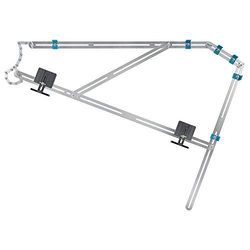 wolfcraft Treppenlehre 5210000 – Messwerkzeug für den Treppenbau – Treppenschablone zum Übertragen von Stufenmaßen – Auch ideal für Wendeltreppen