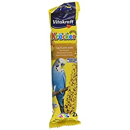 Vitakraft Budgie Kracker Bird Food Egg-Grass Seeds, Pack of 7