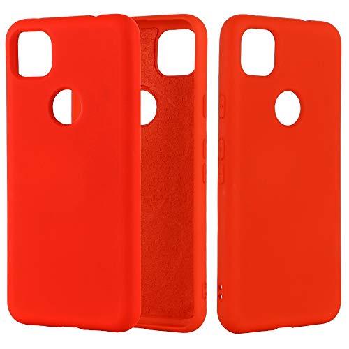 NANSHAN PHONETABLETCASE+ / for Google Pixel 4A Color de Silicona líquido de Silicona líquido a Prueba de Golpes a Prueba de Golpes Protección de la Cubierta de la Cubierta a Prueba (Color : Rojo)