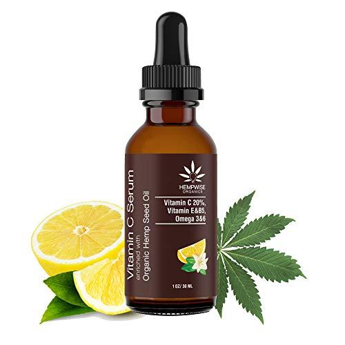 Vitamin C Serum Enriched With Organic Hemp Seed Oil, Hyaluronic Acid, Jojoba Oil, Vitamin E....