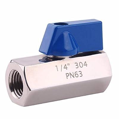 "DERNORD Mini Ball Valve - Stainless Steel ball valve 1/4"" NPT Thread (1/4"" Female&Female) from DERNORD"