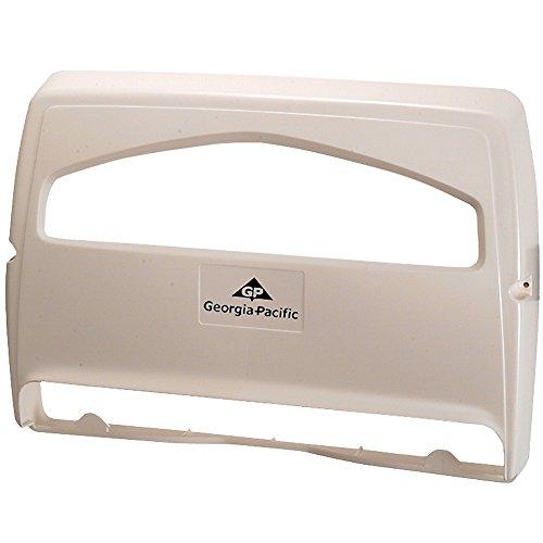 Safe-T-Gard 1/2 Fold Toilet Seat Cover Dispenser by GP PRO (Georgia-Pacific), White, 57710, 16.375