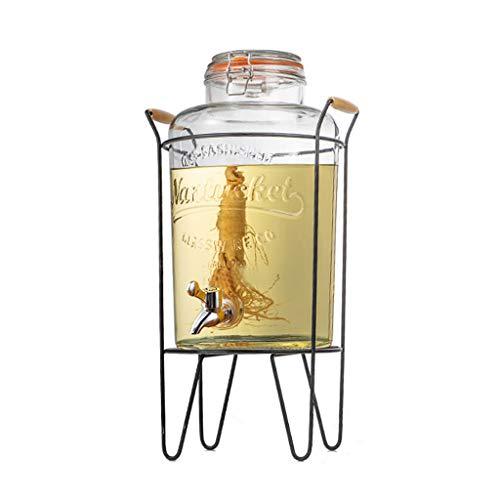 8 liter drank Dispenser met standaard, ideaal voor het serveren van wijn, sap, water, champagne en andere koude dranken, geschikt voor buiten, bar huizen ABS faucet Dubbele kop