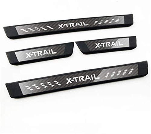 Rsioslez 4Pcs Edelstahl Karosseriebeschläge Einstiegsleiste für Nissan X-Trail T32 2014-2019 Trim Scuff Pedal Cover Schutz Zierzubehör Threshold Fittings