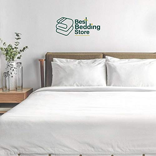 Best Bedding Store Full Size Sleeper Sofa Sheet Set (54 x 72 +8) Solid White 800 Series Brushed 100% Cotton Bed Sheets for Sleeper Sofa, Hide A Bed