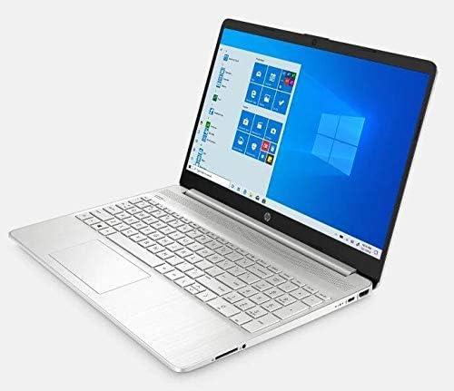 "2021 HP 15.6"" HD Touchscreen Laptop PC Intel 11th gen Core i3-1115G4 8GB DDR4 RAM 128GB NVMe SSD, HD Webcam,USB-C, HDMI, Windows 10 S, Natural Silver, LPT 32GB USB Drive WeeklyReviewer"