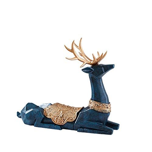Yuanjiashop Estante para Botellas de Vino Ciervos Vino Titular Animales en Forma de Soporte en Forma de Escultura Vino Regalos Decoración del hogar Lujo luz gabinete del Vino Decoraciones Botelleros