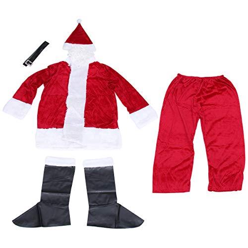 ifundom Decorazioni natalizie 1 vestito di Natale Cosplay Costume Adulti Babbo Natale Costume Cosplay Abbigliamento Rosso