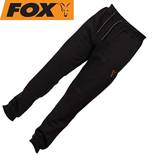 Fox Collection Black Orange Jogger - Angelhose für Karpfenangler & Wallerangler, Jogginghose, Hose für Angler, Anglerhose, Größe:L