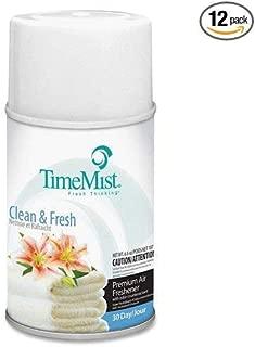 Metered Fragrance Dispenser Refills, Clean N Fresh, 6.6 oz, 12 Cans per Carton