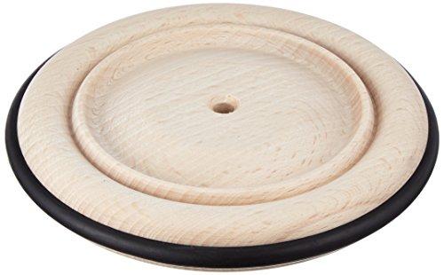 RAYHER 6122300 - Rueda de Madera con Borde de Goma (120 mm de diámetro)