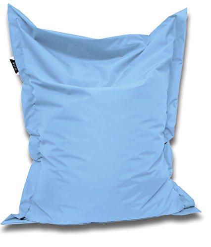 Patchhome Sitzsack und Sitzkissen Eckig - Hellblau - 180x145cm in 25 Farben und 7 versch. Größen
