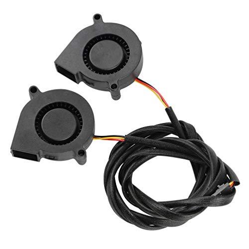 ULTECHNOVO 2 Piezas Ventilador de Ventilador de Impresora 3D Super Silencioso Cojinete Hidráulico Radiador Enfriador Turbina de Enfriamiento Piezas Turbo Compatibles para Prusa I3 Mk3 (Negro)