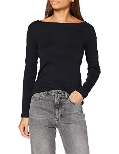 edc by Esprit 080CC1K324 Camiseta, 001/negro, XXS para Mujer