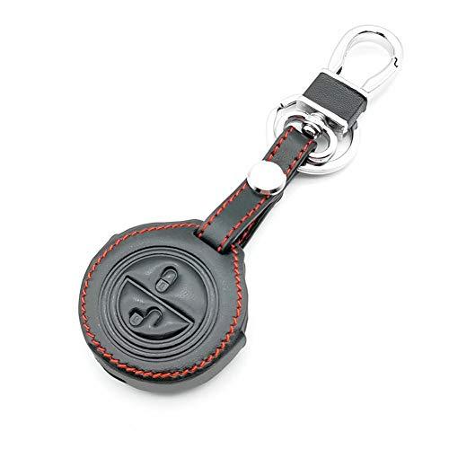 AioeEI Funda Protectora de Cuero para Llave de Coche, Accesorios de decoración de Coche, para Benz Smart Forfour City Fortwo Roadster Mitsubishi