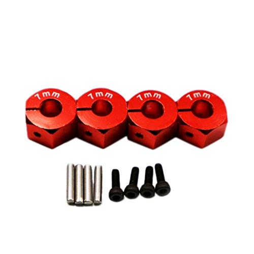 GzxLaY Alloy Hexagon Wheel Set Rc Model Car Set Screws for 1:10 Hpi Venture Fj Cruiser Accessories Spare Parts Accessories ( Color : Red ) -  henanouyameishiyeyouxiangongsi