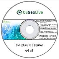 OSGeoLive 13.0 Desktop (64Bit) - Bootable Linux Installation DVD