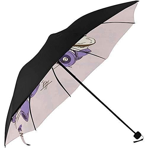 Kompakte Sonnenschirme Sport Rollschuhschuhe Unterseite Druck Damen Kompakte Regenschirme Kompakter Golfschirm Faltbarer Regenschirmhalter