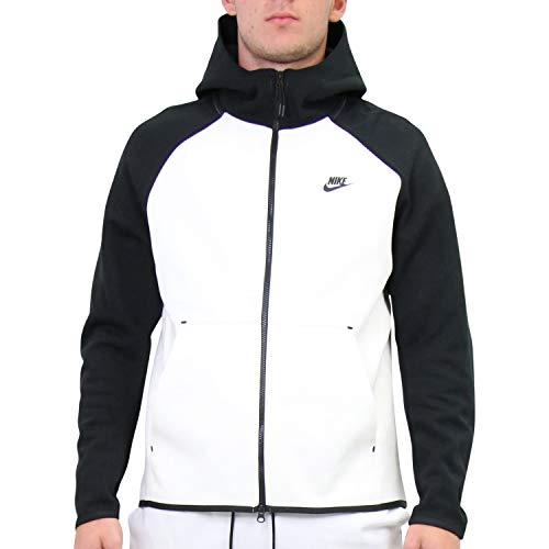 Nike Herren Sportswear Tech Fleece Hoodie Weiß M