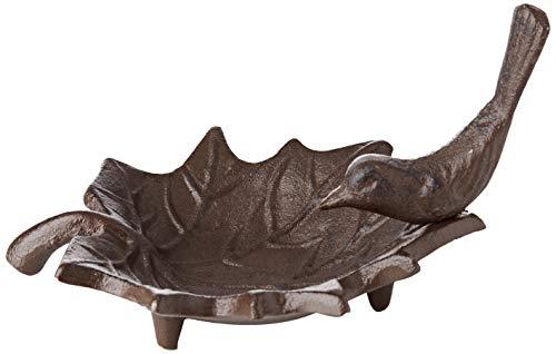 Fallen Fruits FB152 Small Cast Iron Bird Bath, antique brown