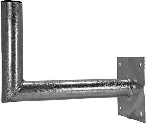 A.S.Sat 26035 Wandhouder voor satelliet-spiegel, thermisch verzinkt staal, 35 cm wandafstand, houderbuis 60 mm diameter