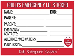 emergency contact stickers